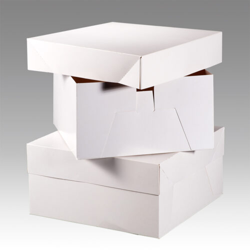 glossy white cake boxes