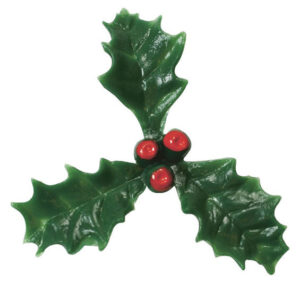 plastic holly cake topper
