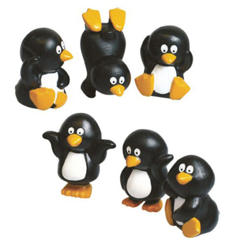 resin penguin cake topper