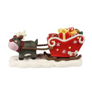 reindeer with sleigh cake topper