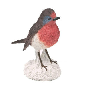 resin robin cake topper