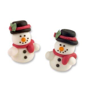 sugar 3d snowman cake topper