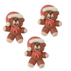 Flat santa sugar bear cake topper