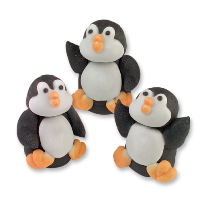 sugar penguin cake toppers