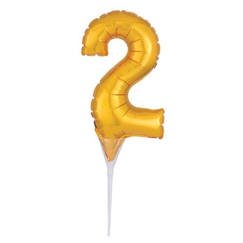 Foil Gold Cake Balloon 2