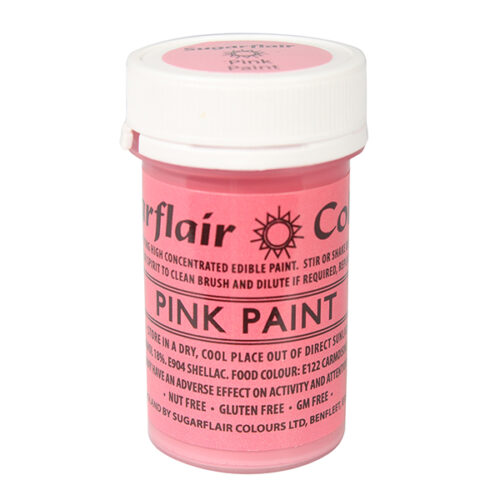 pink edible paint sugarflair