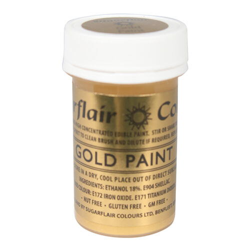 gold edible paint sugarflair