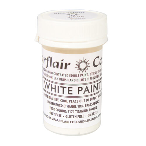 white edible paint sugarflair