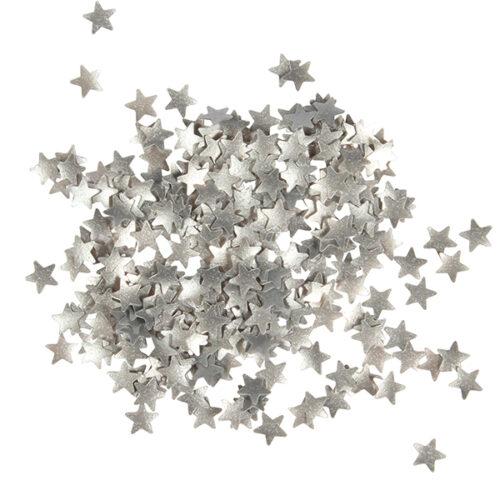 Metallic Stars Silver Sugarflair
