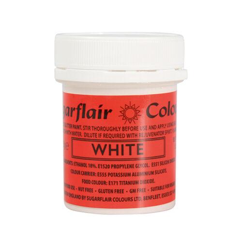 white-glitter-paint