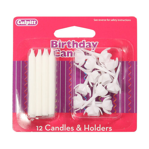 White Candles and Holders - single