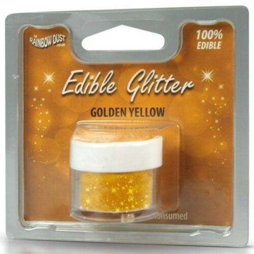 Edible Glitter Golden Yellow RP