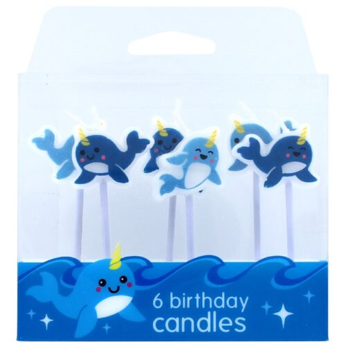 6 narwhal candles
