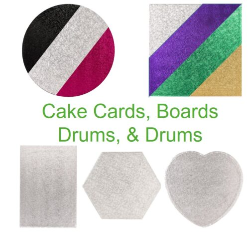 Cake Drums, Cake Boards and Cake Cards