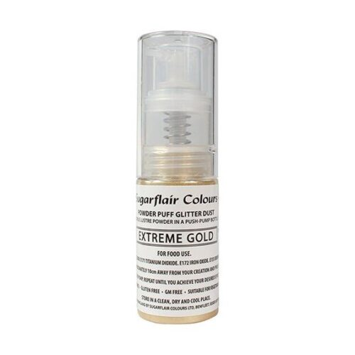 Extreme Gold Sugarflair Glitter Dust Spray