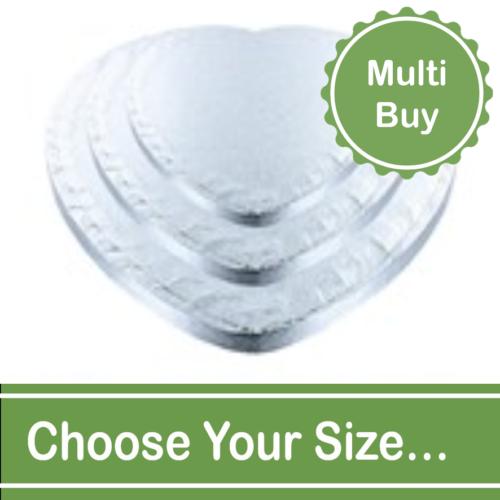 Heart 12mm Cake Drums Multi Bulk Buy