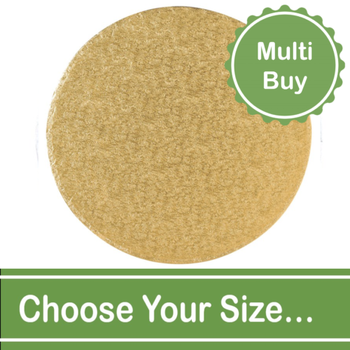 Round Gold Cake Drums Multi Bulk Buy