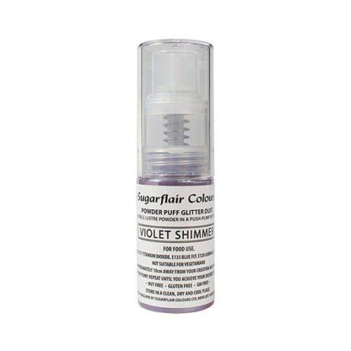 Violet Sugarflair Glitter Dust Spray