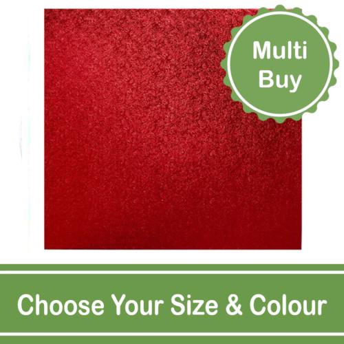 coloured square 12mm cake drum multi bulk buy
