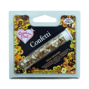 Gold Sequins Edible Confetti
