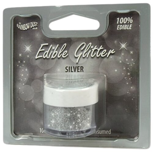 Rainbow Dust Edible Glitter Silver RP