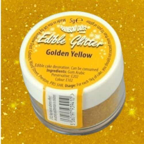 Edible Glitter Golden Yellow Loose