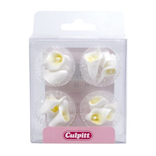 calla lily white sugar pipings