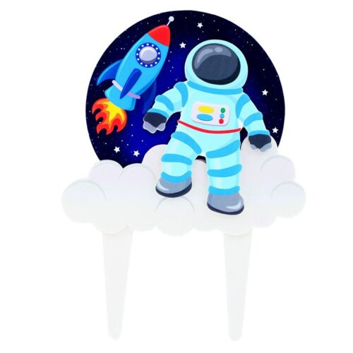 Spaceman cake topper
