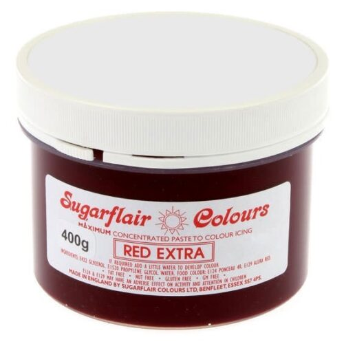 sugarflair red extra paste colour 400g