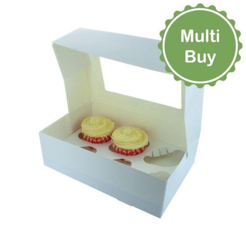 6 hole cupcake muffin box multi bulk buy