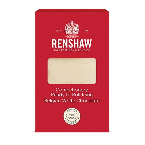 Renshaw Confectionery Ready To Roll Icing White Chocolate - 1kg