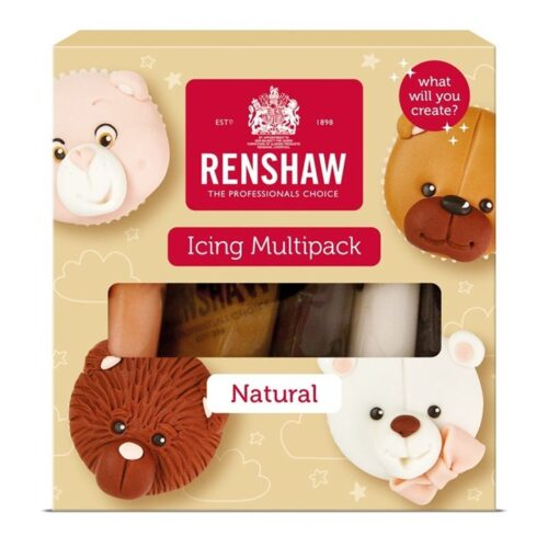 Renshaw Ready to Roll Sugarpaste Icing Naturals - Multipack