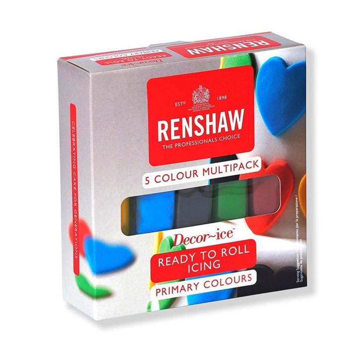 Renshaw Ready to Roll Sugarpaste Icing Primary Colours - Multipack
