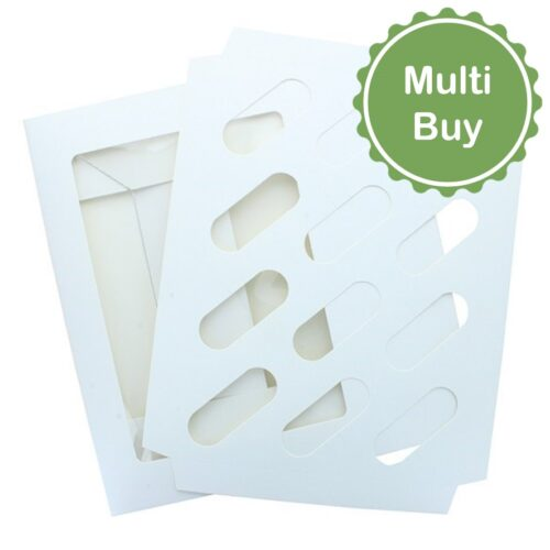 White 12 Hole Cupcake Muffin Box multi bulk buy