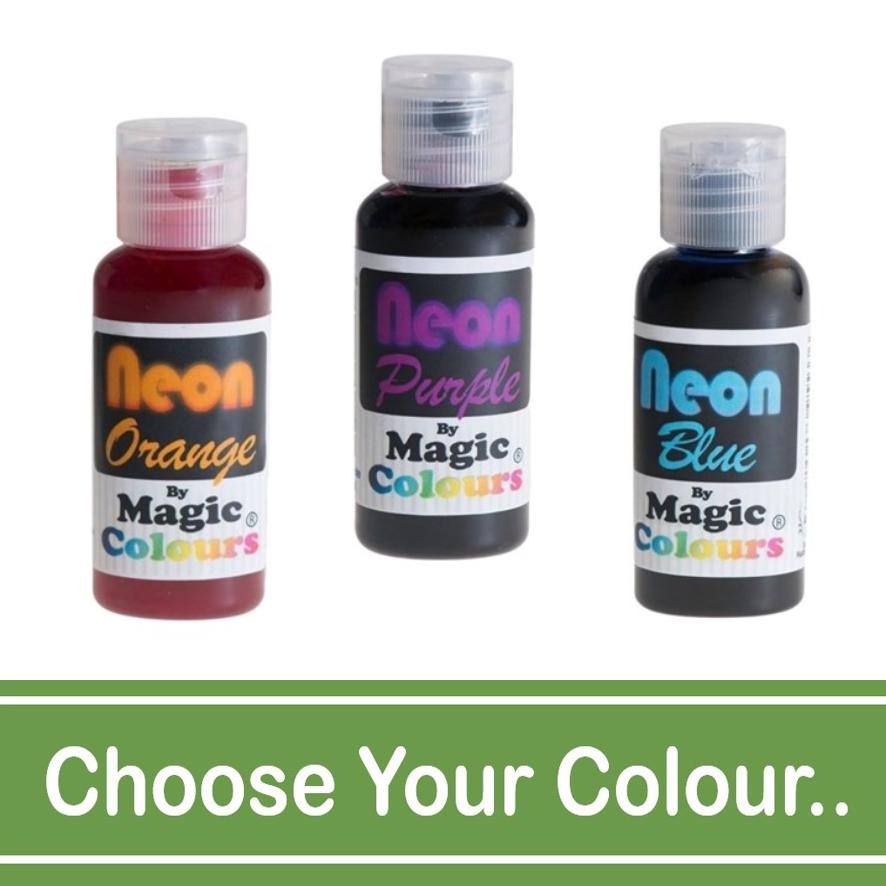 Magic Colours Neon Paste Food Colours - 32g